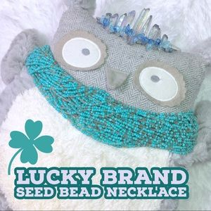 Lucky Brand Multi-strand Boho Seed Bead Necklace